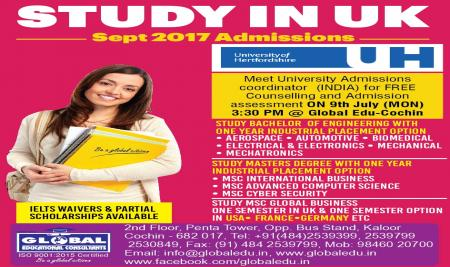 STUDY IN UK with  ONE YEAR INDUSTRY PLACEMENT