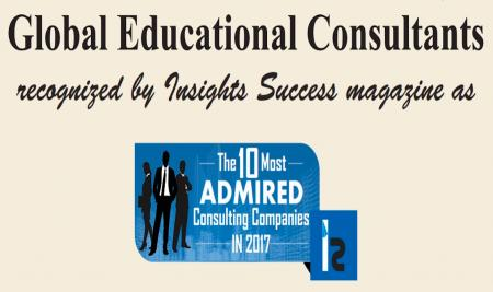 Global Education  is selected as INDIA's 10 Most Admired Consulting Companies in 2017