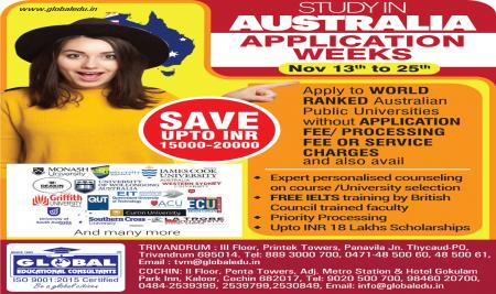 AUSTRALIA  Application Weeks -  Apply now and save upto Rs.20000
