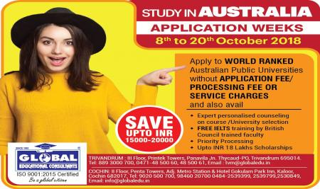 Australia Weeks (OCT 10 - 20th) - Apply ow and save upto INR 20000