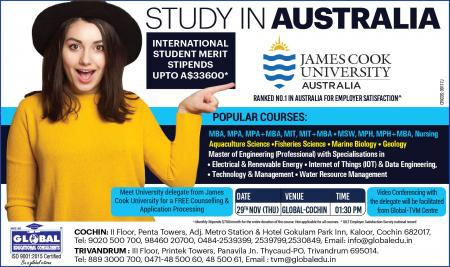 JAMES COOK UNIVERSITY SCHOLARSHIPS